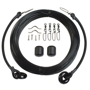 Lee's Deluxe Rigging Kit - Single Rig Up To 37ft. - Black Mono [RK0337LS/MO]