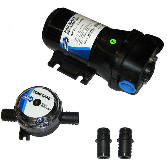 Jabsco PAR-Max 3 Shower Drain Pump 12V 3.5 GPM [31610-0092]