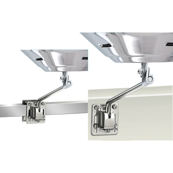 Magma Square-Flat Rail Mount or Side Bulkhead Mount f-Kettle Series Grills [A10-240]