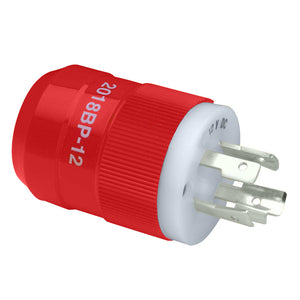 Marinco 2018BP-12 Locking Charger Plug (Male) - Red [2018BP-12]