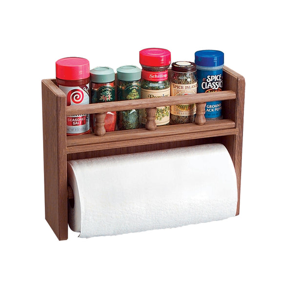 Whitecap Teak Paper Towel Holder w-Spice Rack [62446]