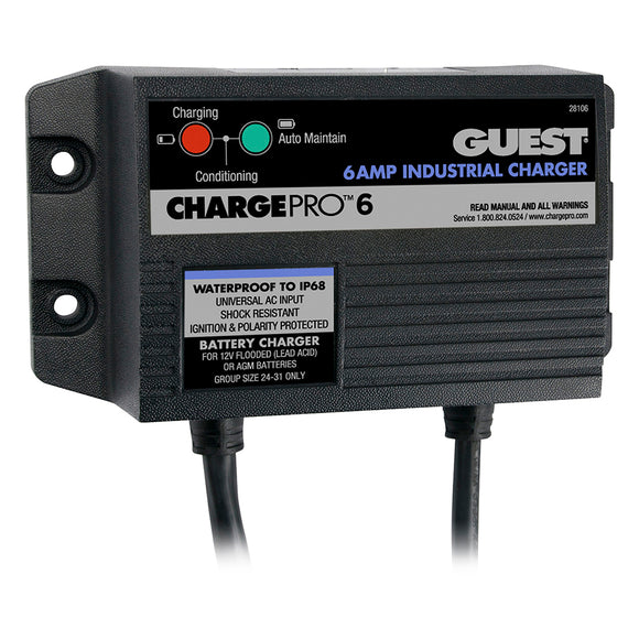 Marinco 6A On-Board Battery Charger - 12V - 1 Bank [28106]