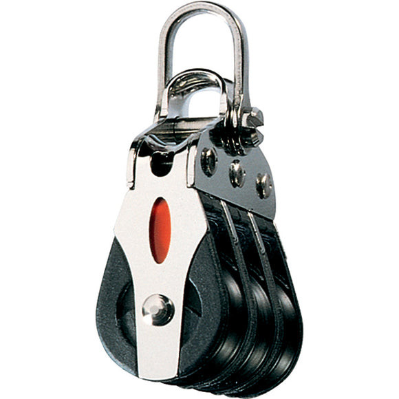 Ronstan Series 20 ball Bearing Block - Triple - 2-Axis Shackle head [RF20302]