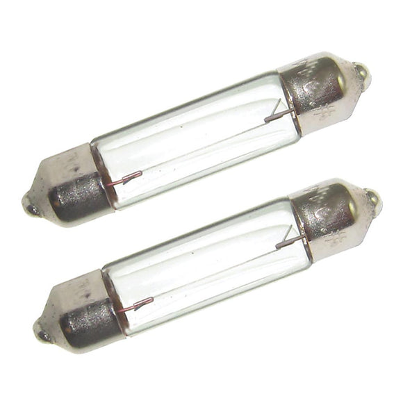Perko Double Ended Festoon Bulbs - 12V, 10W, .74A - Pair [0070DP0CLR]