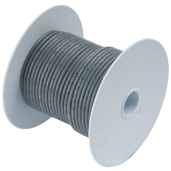 Ancor Grey 16 AWG Tinned Copper Wire - 250' [102425]