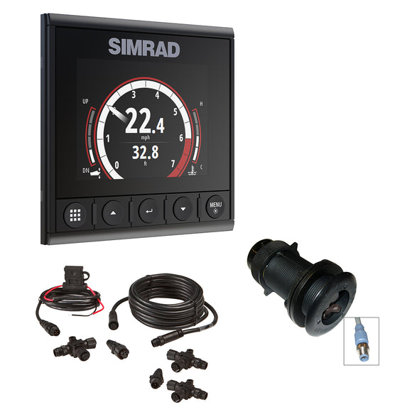 Simrad IS42 Speed-Depth Pack - IS42 Digital Display, DST800 Ducer & N2k Backbone Starter Kit [000-13293-001]