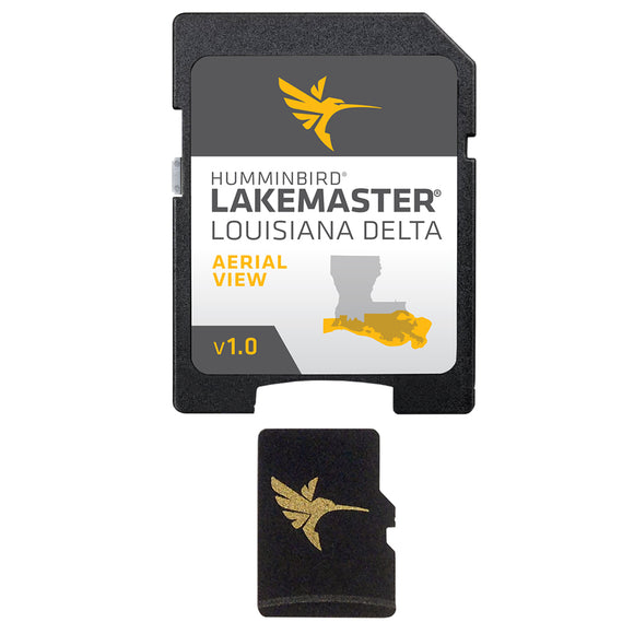 Humminbird LakeMaster Aerial Satellite View - Louisiana Delta [600050-1]