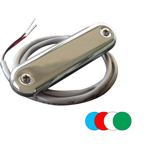 Shadow-Caster Courtesy Light w/2' Lead Wire - 316 SS Cover - RGB Multi-Color - 4-Pack [SCM-CL-RGB-SS-4PACK]