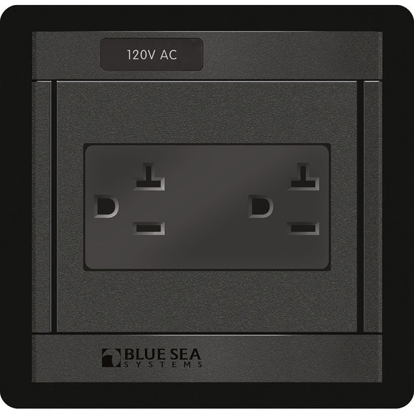 Blue Sea 1479 360 Panel - 120V AC DUal Outlet [1479]