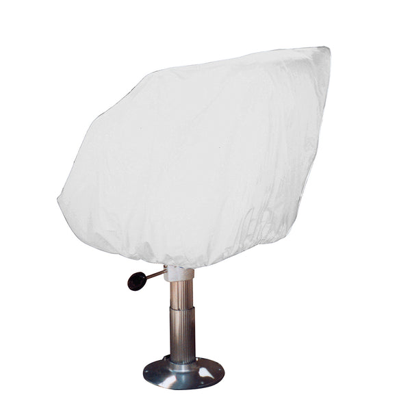 Taylor Made Helm-Bucket-Fixed Back Boat Seat Cover - Vinyl White [40230]
