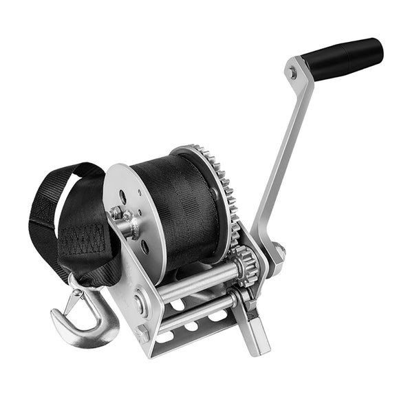 Fulton 900lb Single Speed Winch w-12 Strap f-Personal Watercraft [142006]