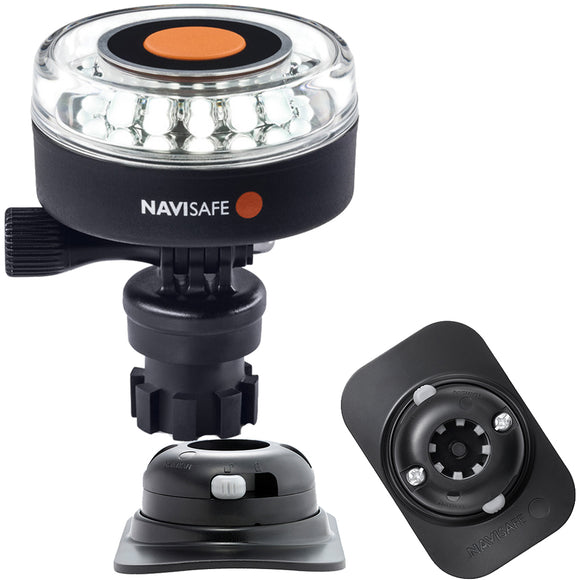 Navisafe Navilight 360 2NM White w-Navimount Base  RIB Mount - Black [040KIT2]