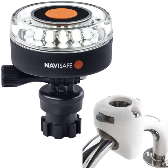 Navisafe Navilight 360 2NM White w-Navimount Base  Rail Mount - White [040KIT3]