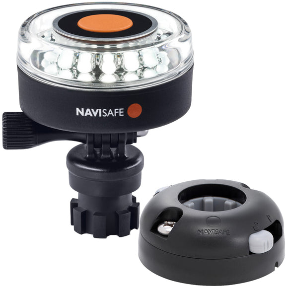 Navisafe Navilight 360 2NM White w-Navimount Base  Horizontal Mount - Black [040KIT7]