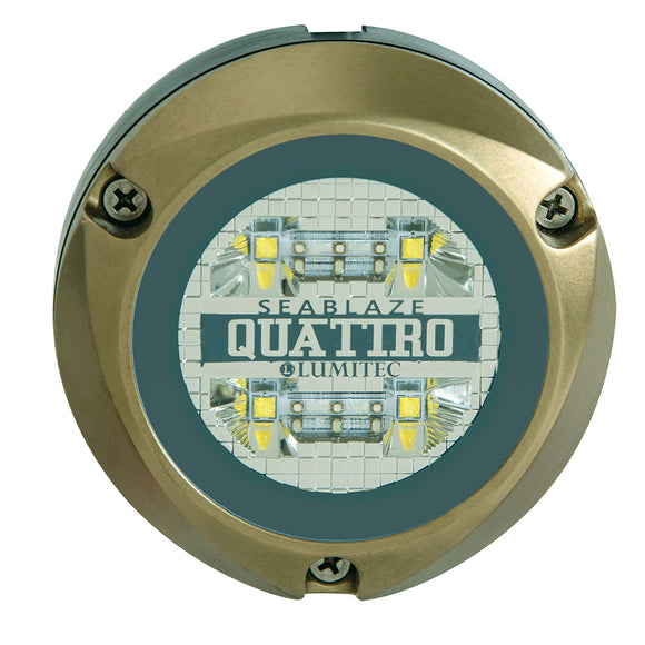 Lumitec Zambezi Quattro Surface Mount Underwater Light - White/Blue [101459]