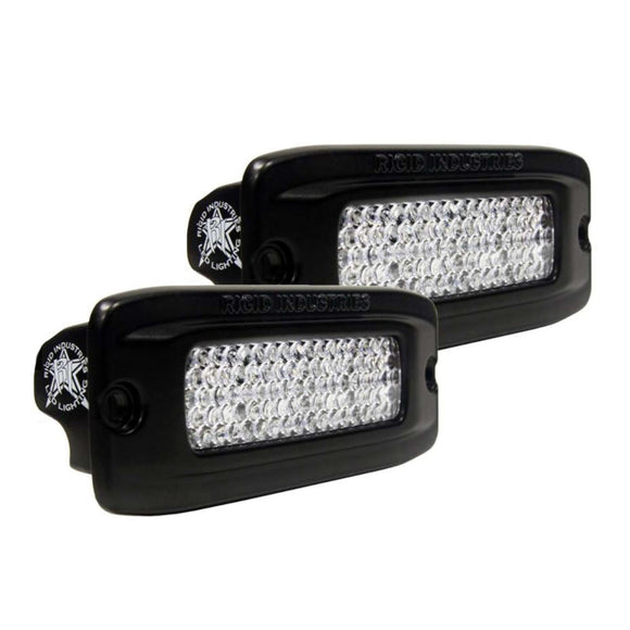 RIGID Industries SR-Q PRO Back Light Kit - Flush Mount Diffused - Pair - Black [980033]