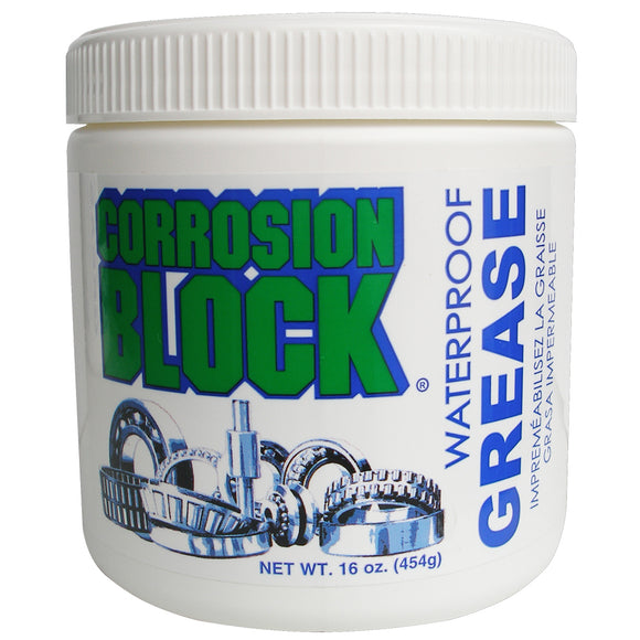 Corrosion Block High Performance Waterproof Grease - 16oz Tub - Non-Hazmat, Non-Flammable  Non-Toxic [25016]