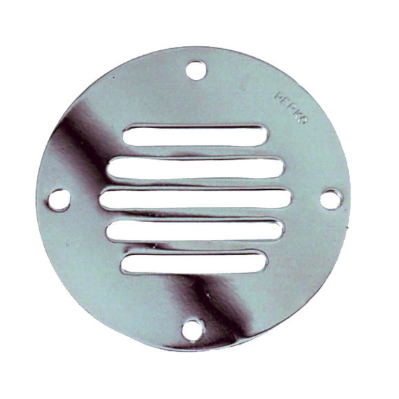Perko Chrome Plated Brass Round Locker Ventilator - 3-1/4
