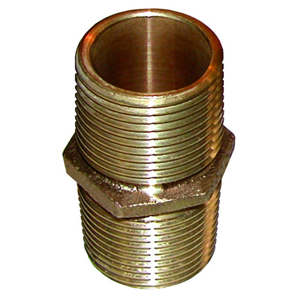 GROCO Bronze Pipe Nipple - 3/4
