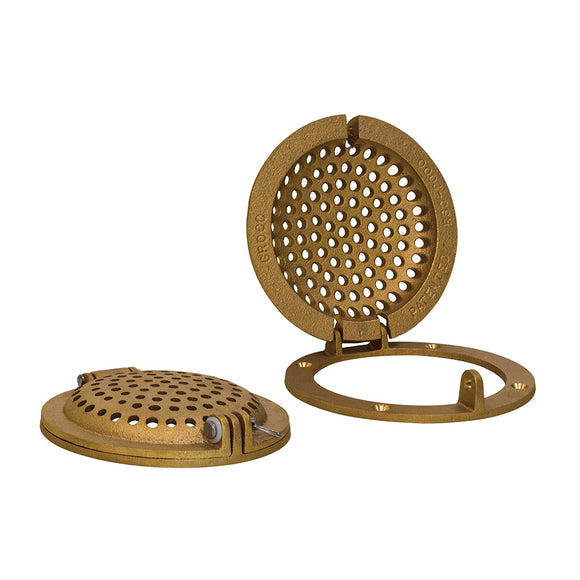 GROCO Bronze Round Hull Strainer w-Access Door f-Up To 2