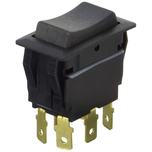 Cole Hersee Sealed Rocker Switch Non-Illuminated DPDT On-Off-On 6 Blade [58027-07-BP]