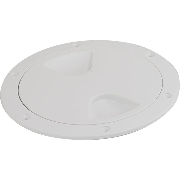 Sea-Dog Screw-Out Deck Plate - White - 6