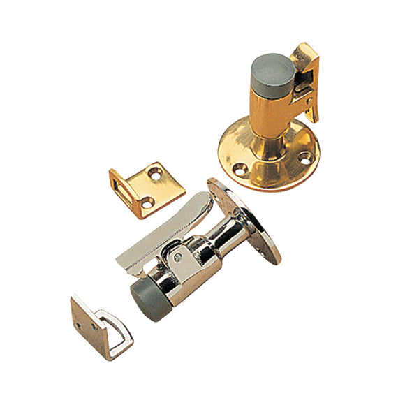 Sea-Dog Door Stop  Catch - Brass - 2