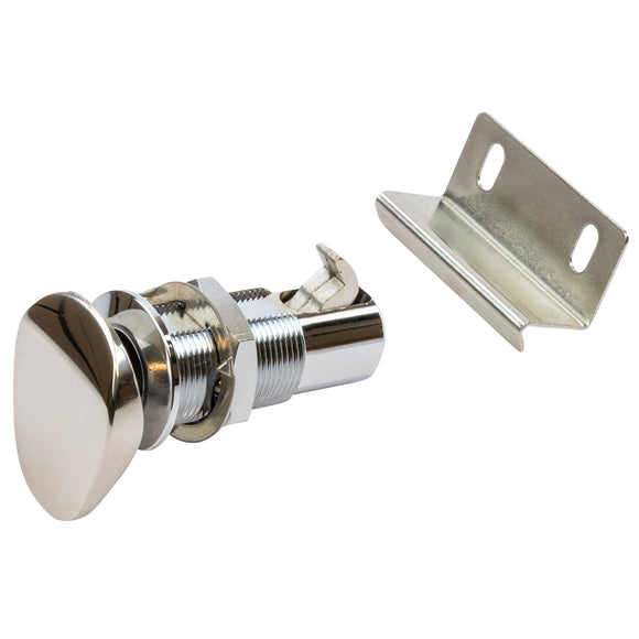 Sea-Dog Push Button Cabinet Latch - Oval [225400-1]