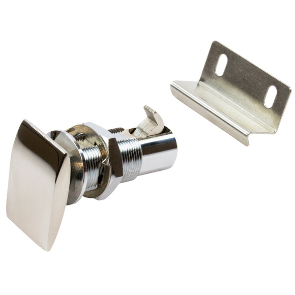 Sea-Dog Push Button Cabinet Latch - Rectangular [225420-1]
