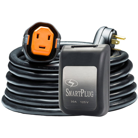SmartPlug RV Kit 30 Amp 30 Dual Configuration Cordset - Black (SPX X Park Power)  Non Metallic Inlet - Black [R30303BM30PB]