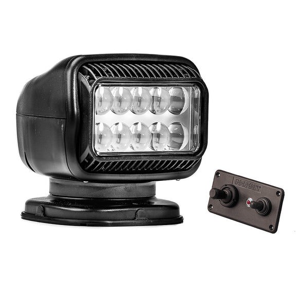 Golight Radioray GT Series Permanent Mount - Black LED - Hard Wired Dash Mount Remote [20214GT]