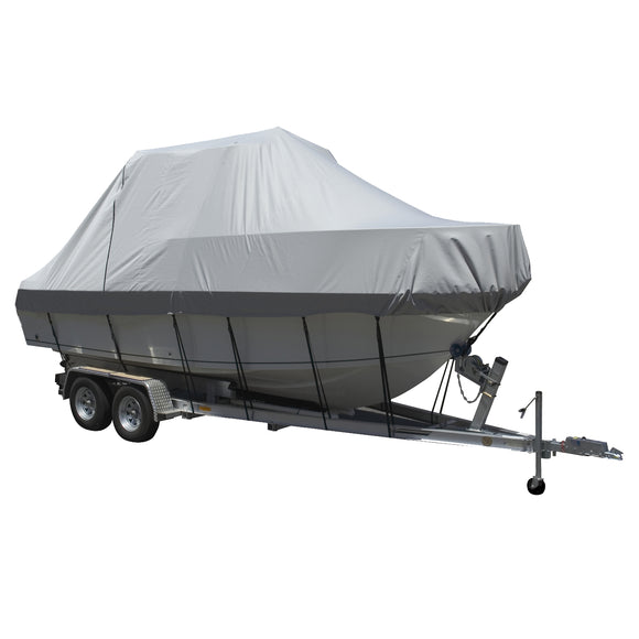 Carver Performance Poly-Guard Specialty Boat Cover f/23.5 Walk Around Cuddy  Center Console Boats - Grey [90023P-10]