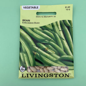 Bean Earliserve Bush Seed Packet