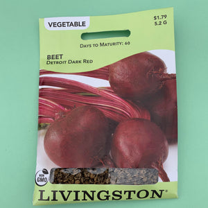 Beet Detroit Dark Red Seed Packet
