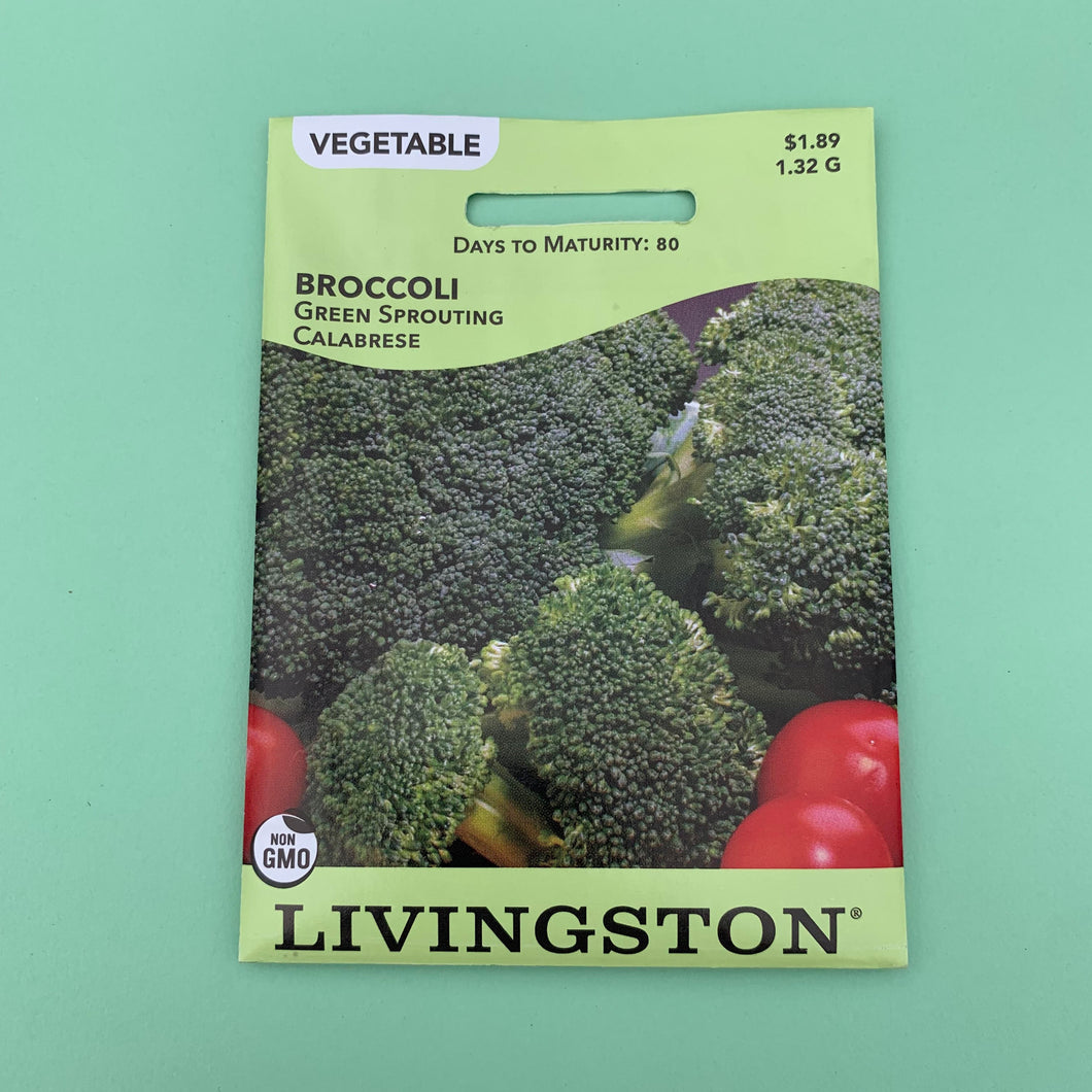 Broccoli Green Sprouting Calabrese Seed Packet