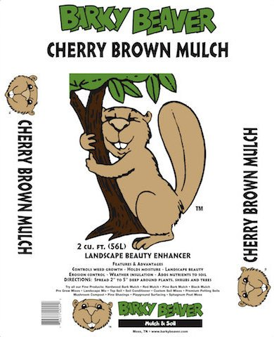 Cherry Brown Mulch Bag