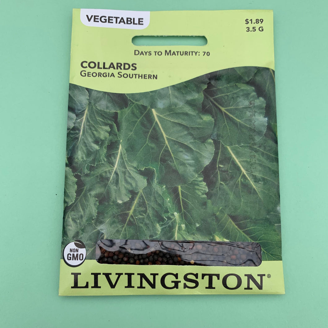 Collards Georgia Southern Seed Packet