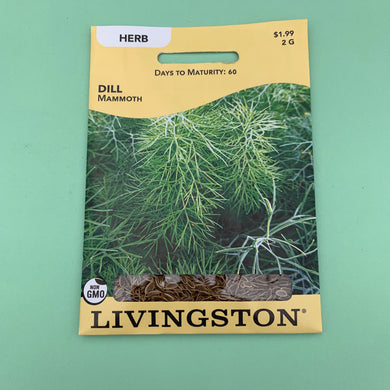 Dill Mammoth Seed Packet