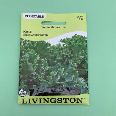 Kale Siberian Improved Seed Packet