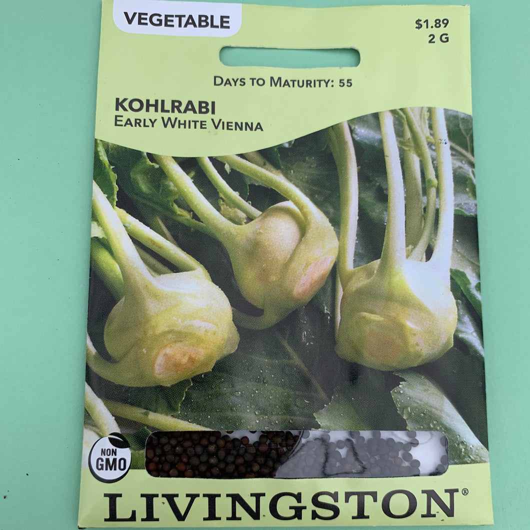 Kohlrabi Early White Vienna Seed Packet