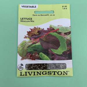 Lettuce Mesclun Seed Packet