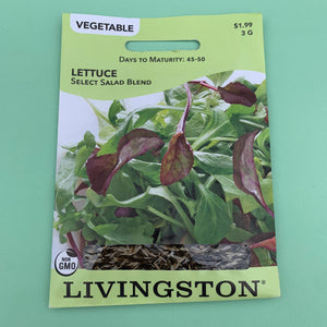 Lettuce Select Salad Blend Seed Packet