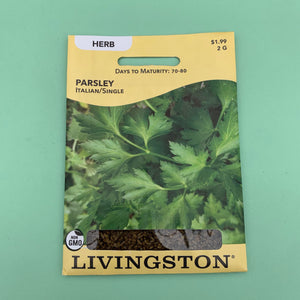 Parsley Italian/Single Seed Packet
