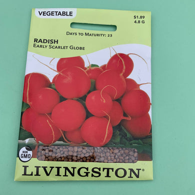Radish Early Scarlet Globe Seed Packet