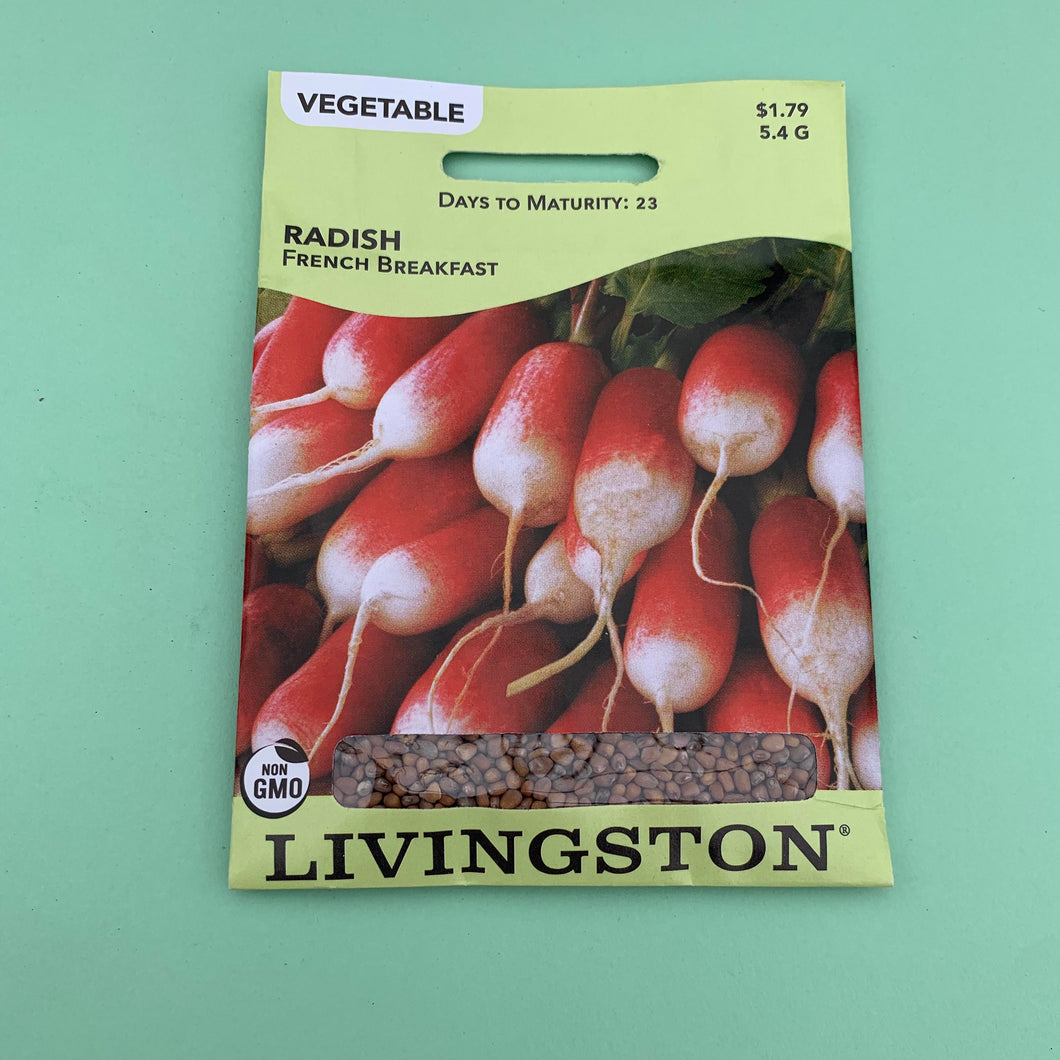 Radish French Breakfast Seed Packet