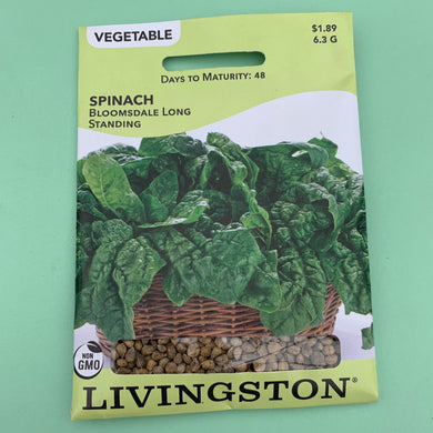 Spinach Bloomsdale Long Standing Seed Packet