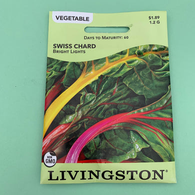 Swiss Chard Bright Lights Seed Packet