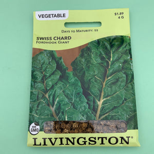 Swiss Chard Fordhook Giant Seed Packet