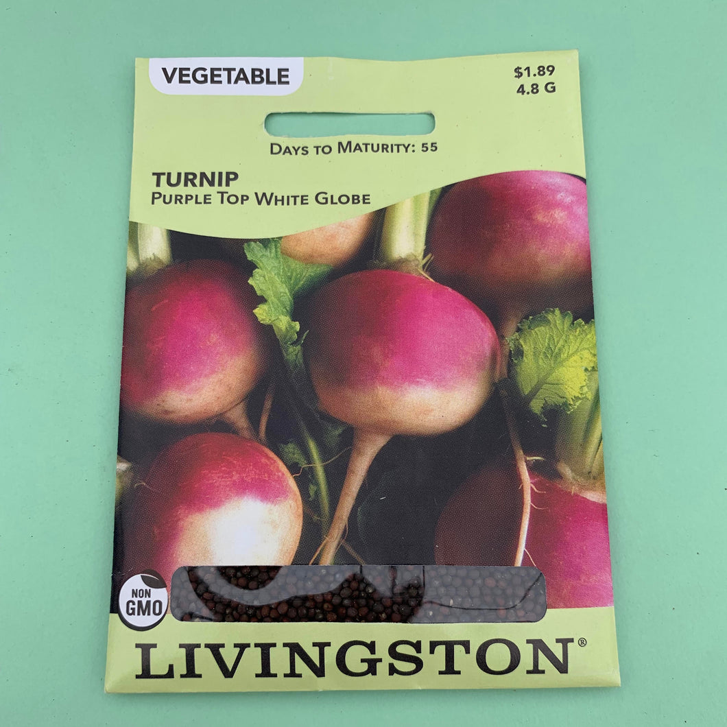 Turnip Purple Top White Globe Seed Packet