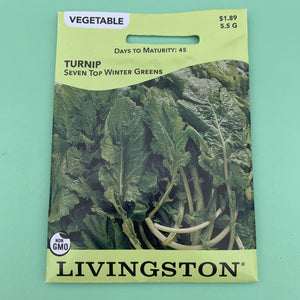 Turnip Seven Top/Winter Greens Seed Packet